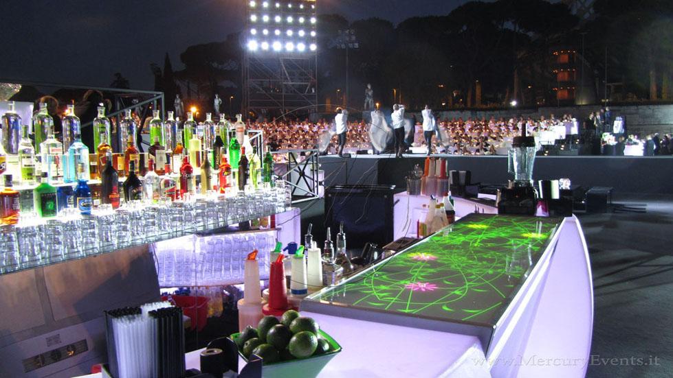 Mercury Events Open Bar catering - bar luminoso luxury events