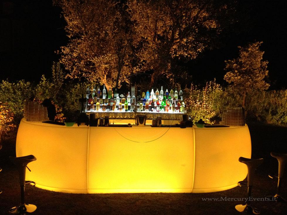 Bancone Bar illuminato