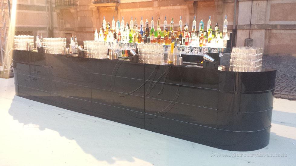 bar design Black Mirror bancone specchio nero roma toscana firenze eventi progettazione catering_ 08