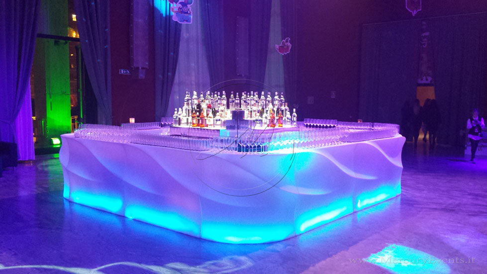 Bancone-bar-luminoso-Maui-bar-mercury-events-open-bar-catering-party-Roma-Toscana-firenze PRADA Donna, Evento Open Bar