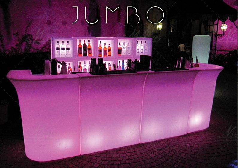 Bancone-bar-luminoso-Jumbo-bar-mercury-events-open-bar-catering-party-Roma PRADA Donna, Evento Open Bar