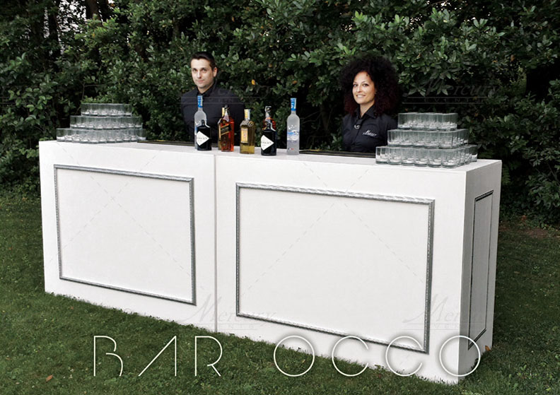 Bancone-barocco-mercury-events-open-bar-catering-party-Roma PRADA Donna, Evento Open Bar