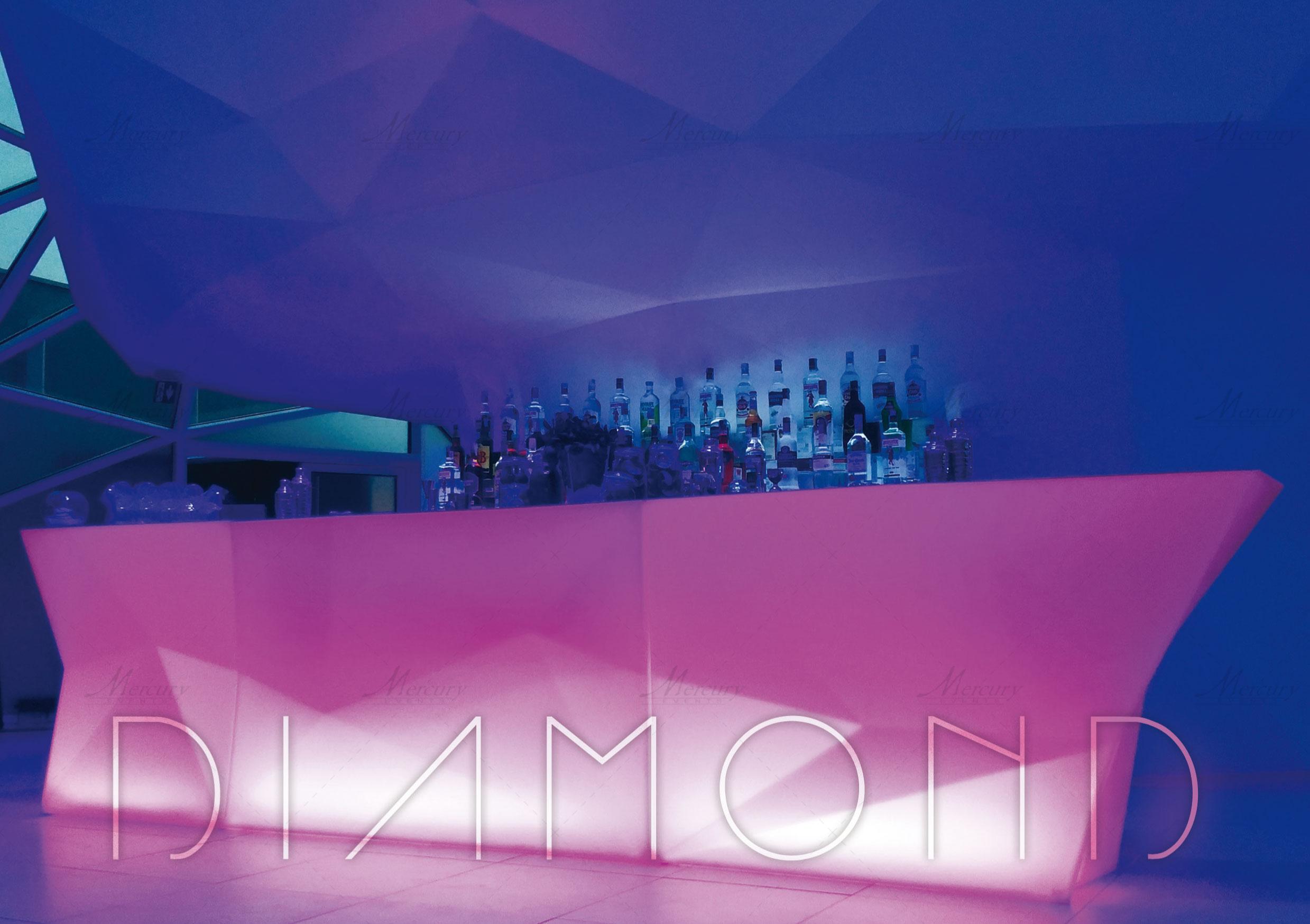 Bancone_bar_luminoso_bar_catering_la-lanterna_roma_mercury_events_01 PRADA Donna, Evento Open Bar