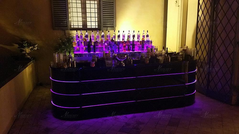 Bancone bar specchiato black