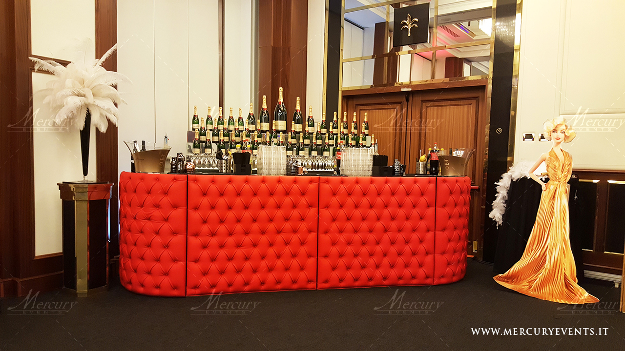 red chesterfield bar design