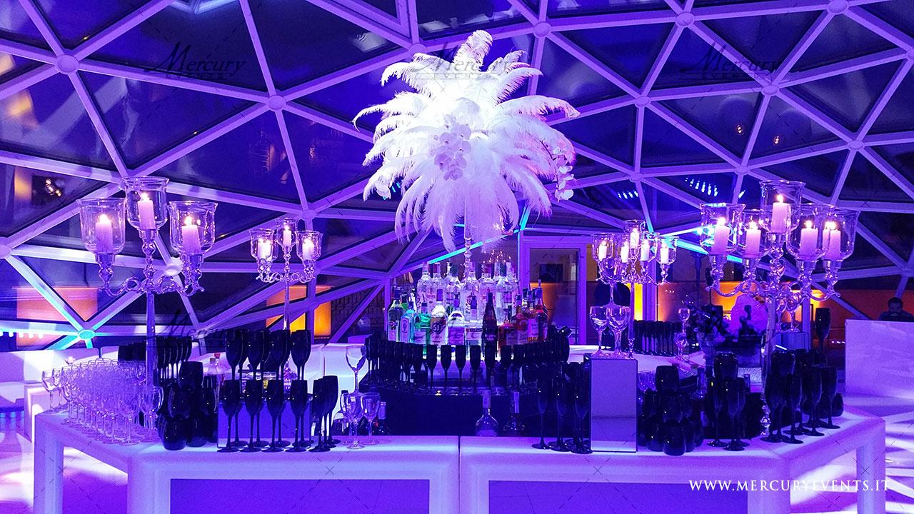 Open_bar_matrimonio_roma_galleria_del_cardinale_bar_luminoso_tiffany-bar Bancone Bar Circolare | Tiffany Bar