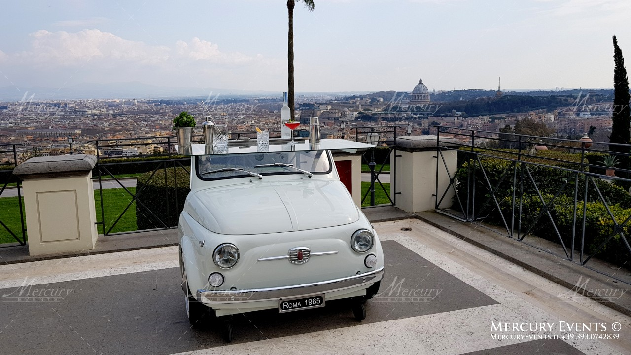 fiat 500 open bar catering