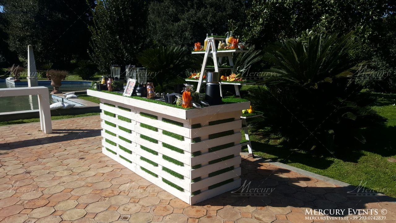 bar catering villa dino roma firenze milano bancone legno shabby mercury events 08