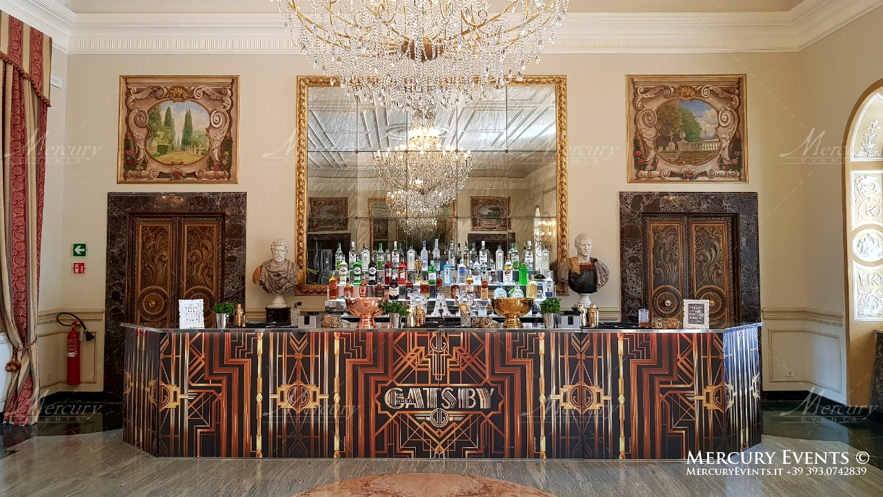 festa in stile grande gatsby bar design
