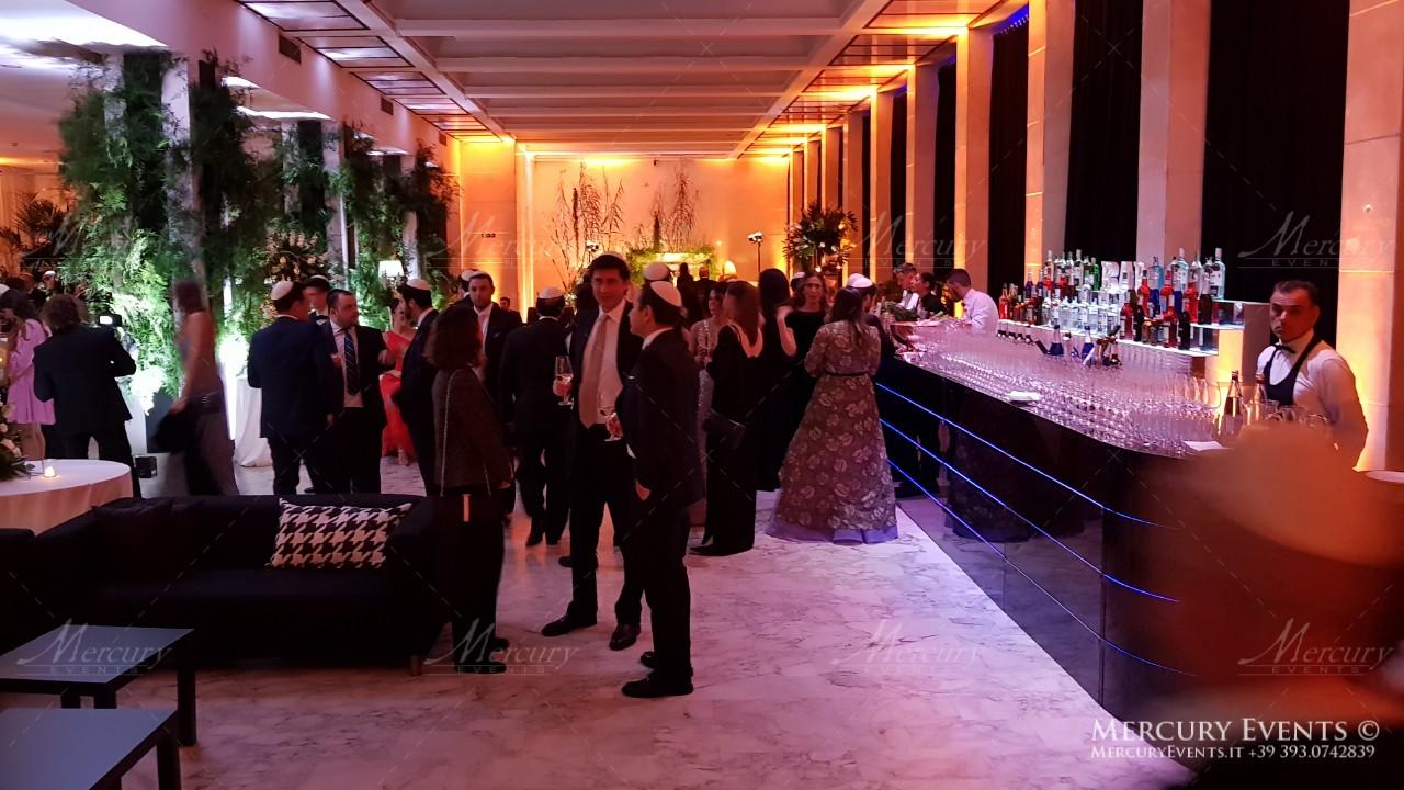 Kosher Wedding - Salone delle Fontane - Bar Cocktail