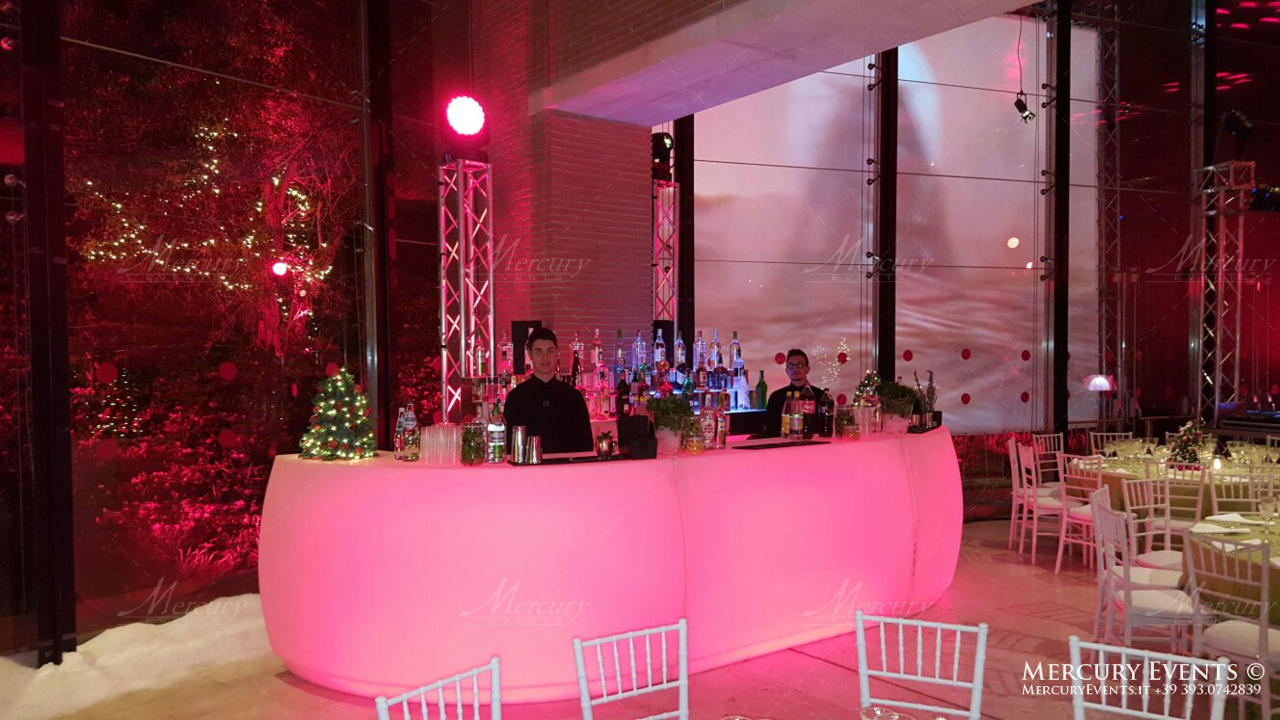 open bar auditorium parco della musica roma bartender wedding matrimonio mercury
