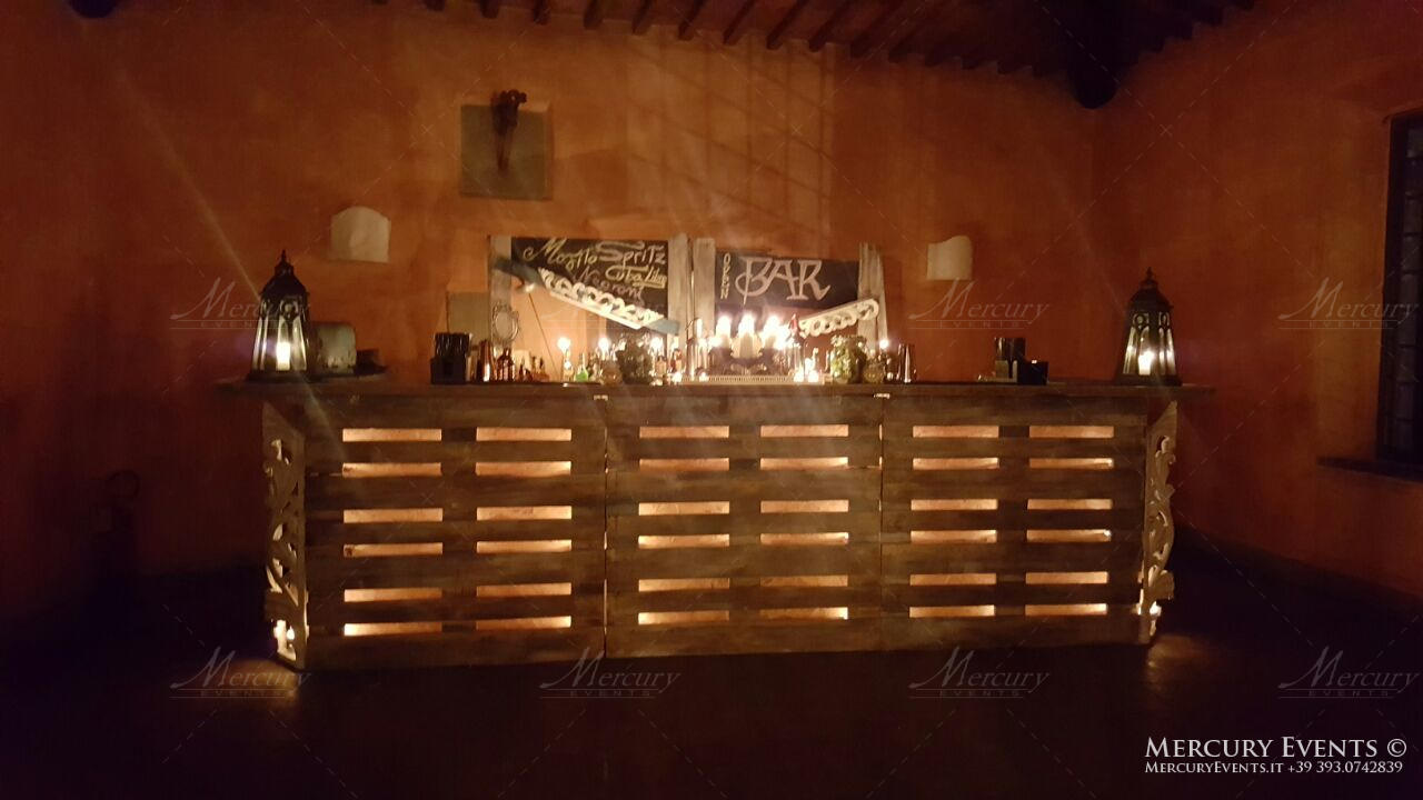 Open bar catering Castello di Meleto