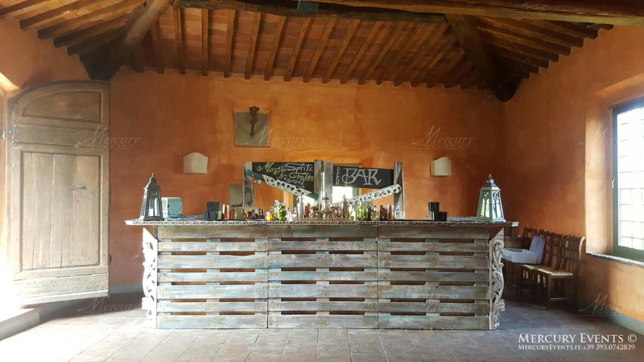 Open bar catering Castello di Meleto Chianti