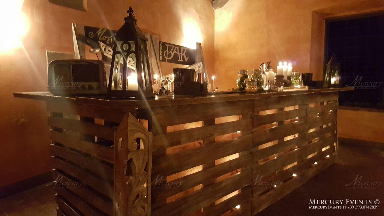 Open bar catering Castello di Meleto Chianti Mercury Events
