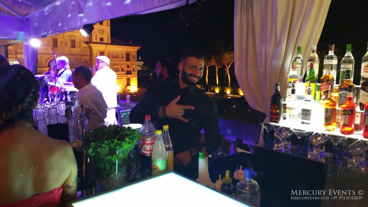 open bar villa medici roma bar counter bartender