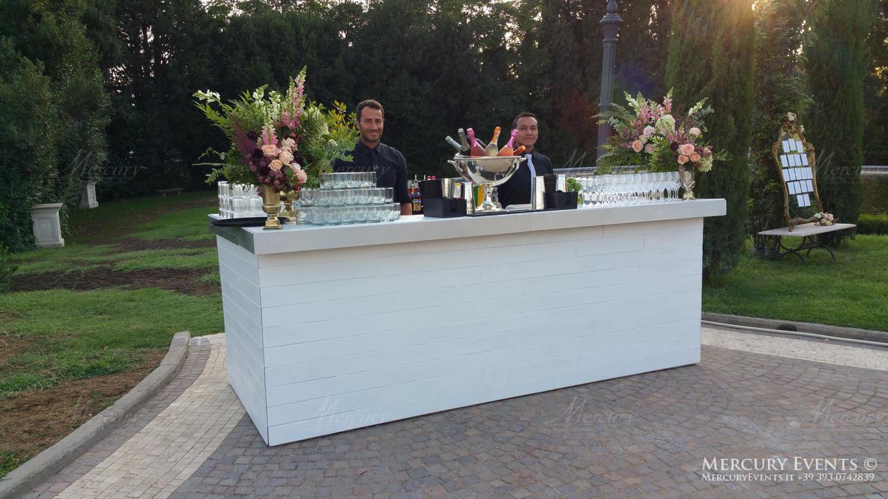 open bar villa miani bartender barman mercury events