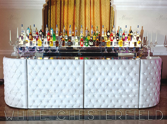 White chesterfield bar