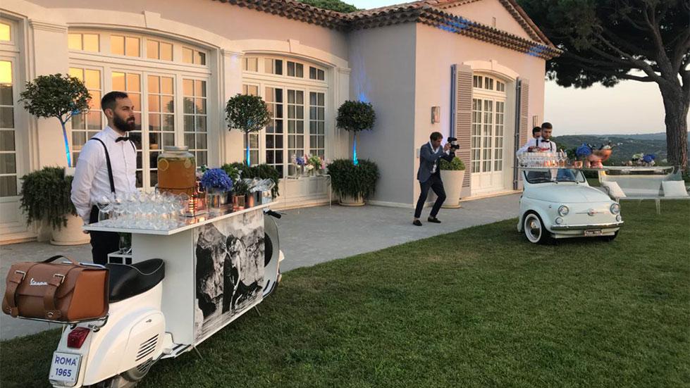 bar catering per eventi roma vespa 50 special